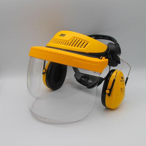 Image de visiera in policarbonato g500 con cuffie 3m
