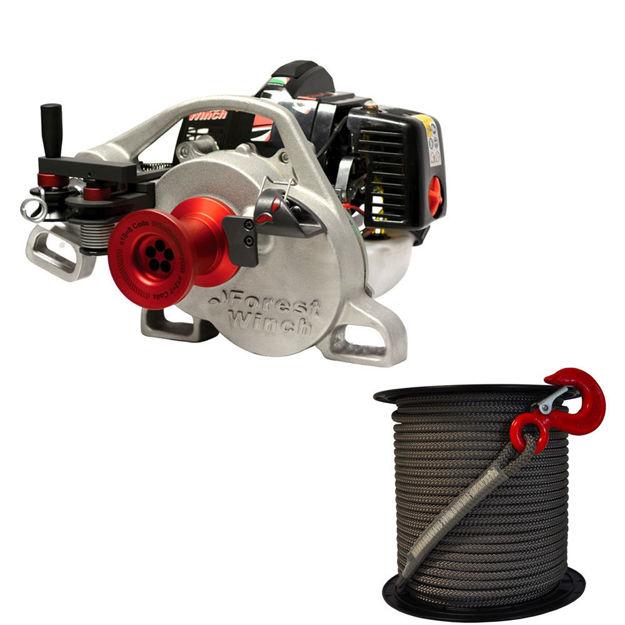 Immagine di verricello vf 105 red iron docma con fune alta tenacità